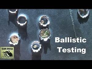 Ballistic Penetration Testing - YouTube