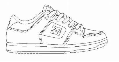 Coloring Shoe Shoes Pages Converse Template Outline