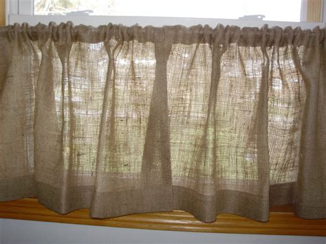 items similar to pair of burlap cafe curtains up to 36