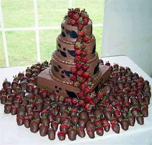 Chocolate covered strawberry wedding cake | Chocolate ...
