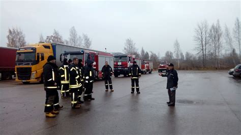 Mācības ugunsdzēsējiem koģenerācijas elektrostacijā ...