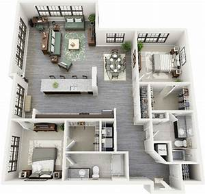 50 plans 3d d39appartement avec 2 chambres With maison sweet home 3d 12 plan maison 3d sur terrain