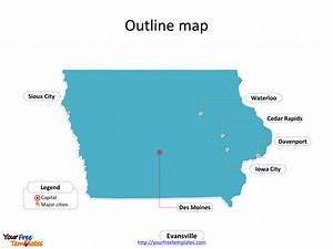 Iowa Map Free Download