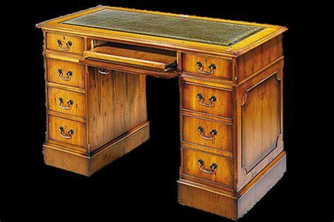 dessus de bureau en cuir bureau anglais caisson informatique longfield 1880