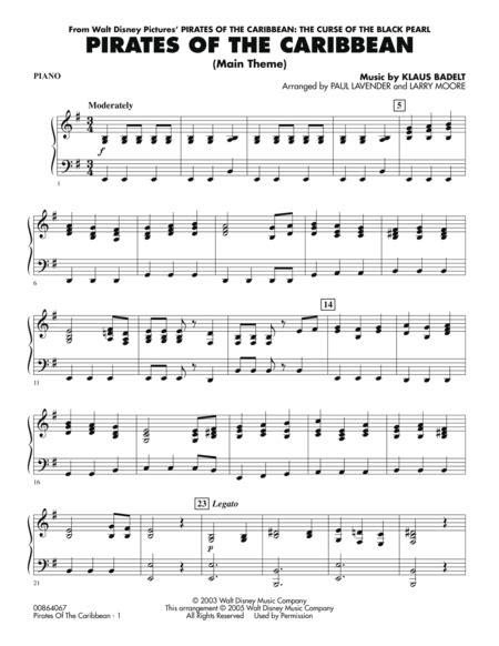 pirates   caribbean main theme piano  larry