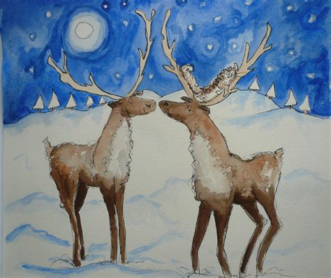 christmas reindeer with cat damefishy