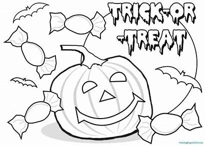 Halloween Coloring Pumpkin Happy Pages