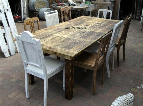 Tisch Aus Alten Bohlen gro 223 er tisch f 252 r 8 personen aus alten bohlen lucies