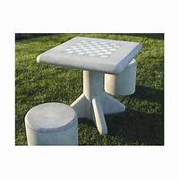 outdoor chess table Outdoor Cement Chess Table
