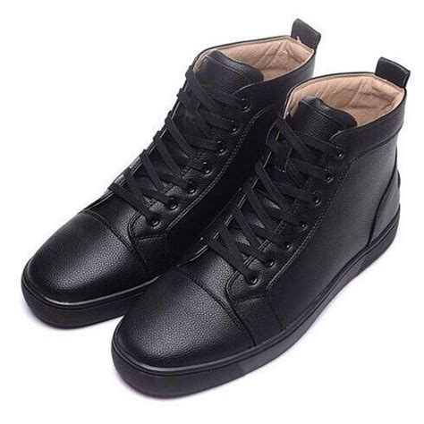 Berdecia Sexy Black Casual Shoes Mens Genuine Leather High