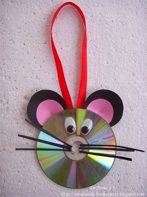 cute mouse wall hanging decor    cd