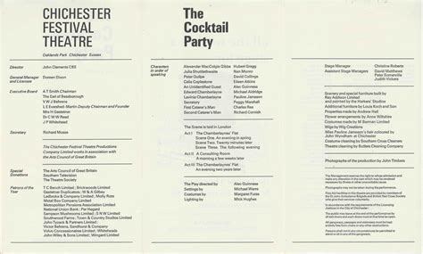 Cast List, The Cocktail Party (1968)  Pass It On