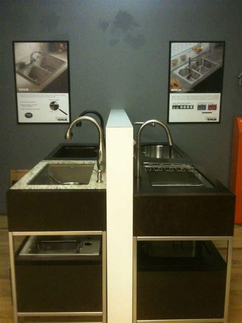 kitchen sink display racks kohler kitchen sink displays our denver showroom