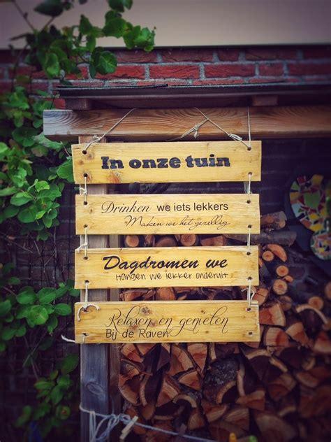 tekstbord tuin gepersonaliseerd houten tekstbord paneel als decoratie