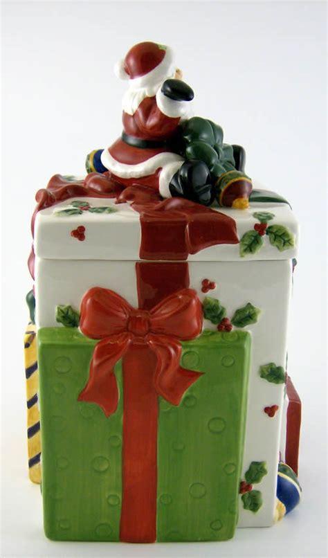 ceramic holiday gifts santa gift pack ceramic cookie jar