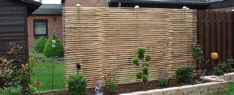 bambus sichtschutz fuer den garten