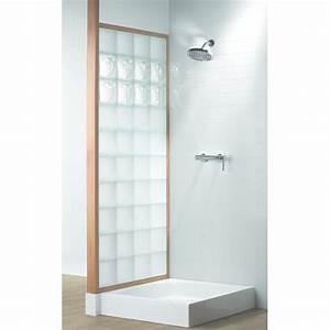Kit De Douche : pare douche en briques de verre encadr es de bois kit ~ Melissatoandfro.com Idées de Décoration