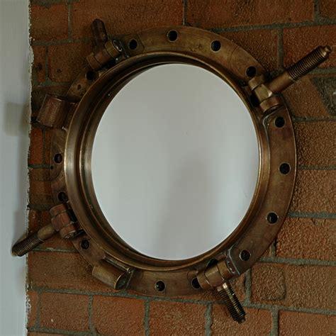 brass porthole medicine cabinet circa 1900 salvaged bronze porthole mirror trend