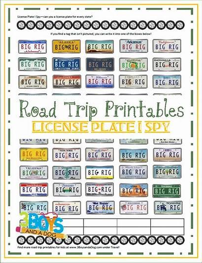 License Plate Trip Printable Road Spy Printables
