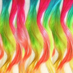Shop Rainbow Hair Extensions on Wanelo