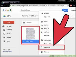 4 ways to download google docs wikihow for Download documents google drive
