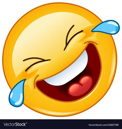 Rolling on the floor laughing with tears emoticon Vector Image