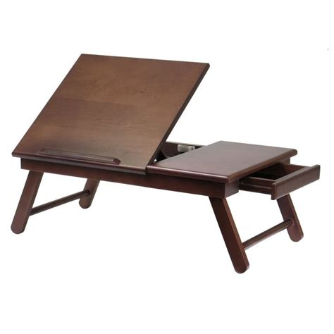foldable legs wood lap desk bed tray work table computer