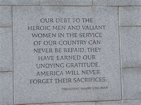 National World War II Memorial Quotes