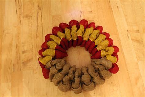 diy burlap turkey thanksgiving wreath  wreath depot