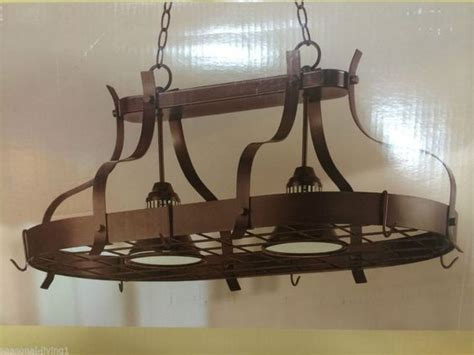 lighted hanging pot racks kitchen the world s catalog of ideas 9005