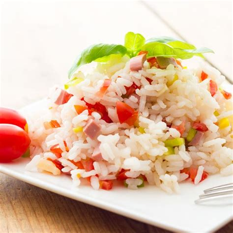 cuisine pour les petits recette salade de riz aux légumes et dés de jambon facile