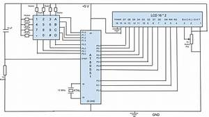 Schematic For Interfacing 4 U00d74 Keypad With 16 U00d72 Lcd Using At89s51