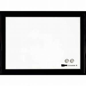 Cadre Noir Et Blanc : tableau blanc magn tique cadre noir rexel vente de tableau blanc effa able sec ~ Teatrodelosmanantiales.com Idées de Décoration