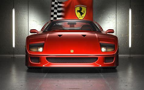 1989 (65) ferrari testarossa £89,995…» Wallpaper ID: 98682 / Ferrari, Ferrari F40, car, vehicle, digital art, pop-up headlights