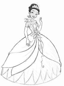 Princess Tiana Easy Drawings