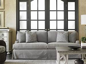 oyster bay stowe slipcover sofa gray lexington home brands With grey sectional sofa slipcover