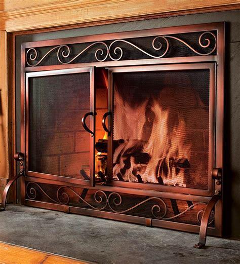 choosing fireplace doorsscreen