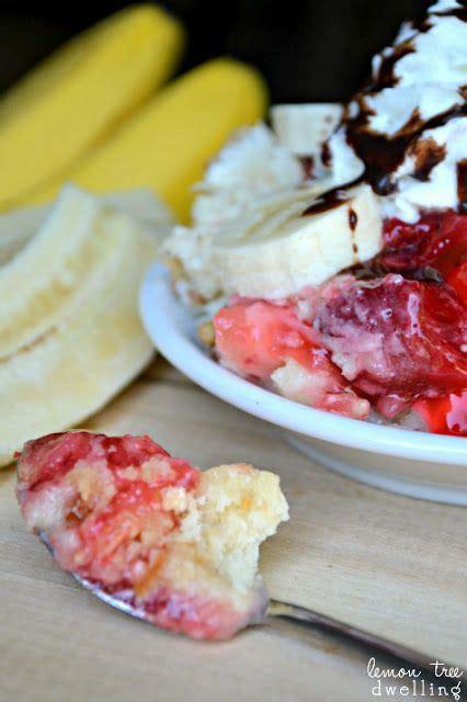 banana split dump cake   melt alternative