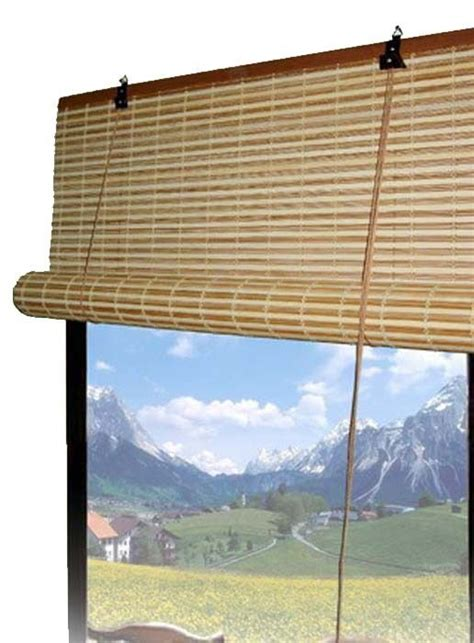 Roll Up Window Blinds by Bamboo Roll Up Window Blinds 3 Sizes Available Ebay