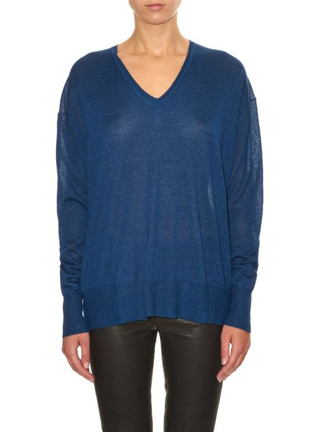 marant sweater marant elmwood sweater in blue lyst