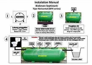 1 Instalation Manual Bio Seven Septic Tank Horisontal  Bfh