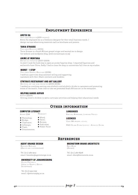Creating Resume In Illustrator by Cv Parade