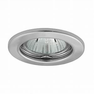Recessed fittings for v halogen bulbs
