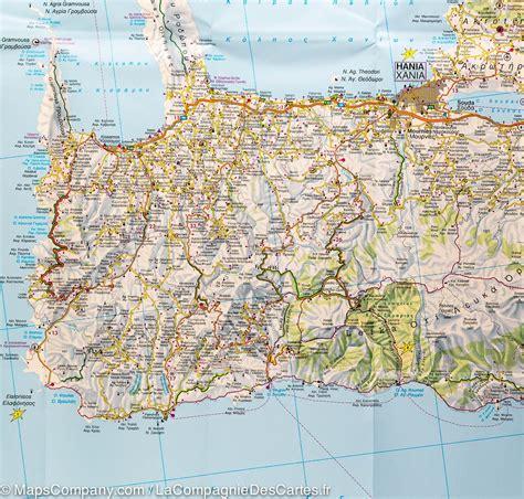 Carte Du Monde Grece Crete by Carte D 233 Taill 233 E De La Cr 232 Te Gr 232 Ce Freytag Berndt