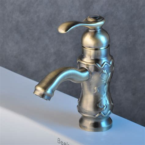 Brass Sink Taps Bathroom by Solid Brass Bathroom Sink Tap Nickel Brushed Finish