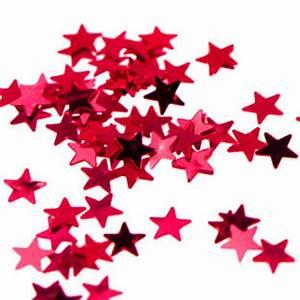 """Tiny Metallic Red Star Confetti, 1/8"""" Red Star Confetti ..."""