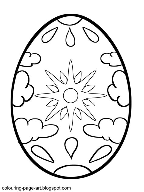 easter egg printable colouring pages easter