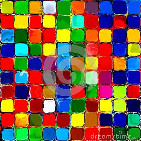 abstract rainbow colorful tiles mozaic painting geometric