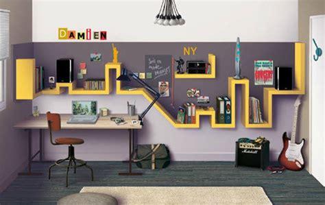 chambre ado gar輟n york déco chambre york jaune