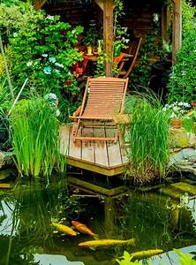 Jardin Avec Bassin : jardins aquatiques 101 id es de bassins et de fontaines ext rieurs ~ Melissatoandfro.com Idées de Décoration